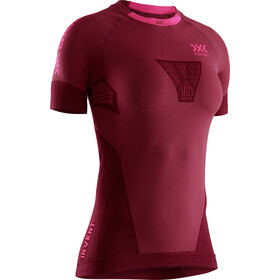 X-Bionic Invent 4.0 Run Speed Camiseta Manga Corta SH Mujer, namib red/neon flamingo